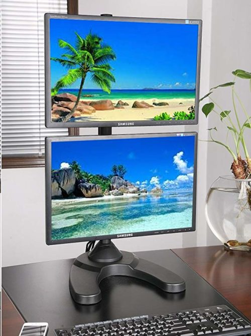 7. EZM Vertical Dual LCD Monitor Mount Stand