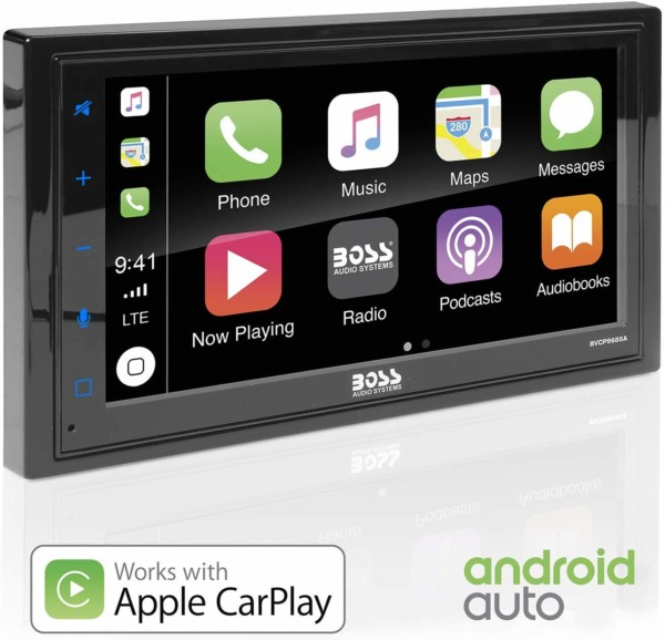 #8. BOSS Audio BVCP9685A Apple Carplay Android Auto Car Multimedia Player