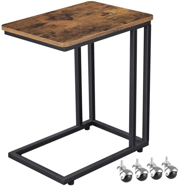 #2. VASAGLE Iron Table with Wheels