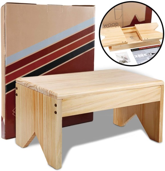 #3. Wood Pals Wood Step Stool for Adults