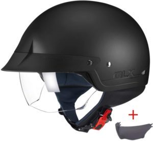 #8. GLX Scooter Helmets with Sun Shield