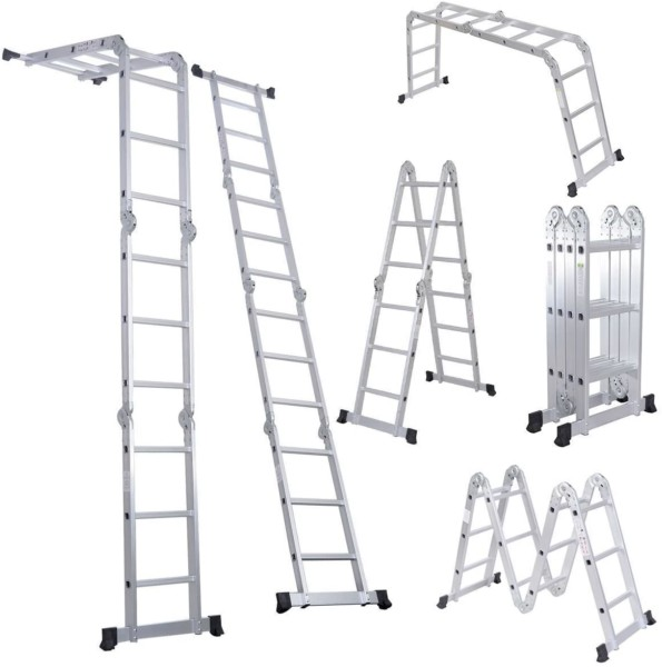 #2. LUISLADDERS Aluminum Folding Ladder