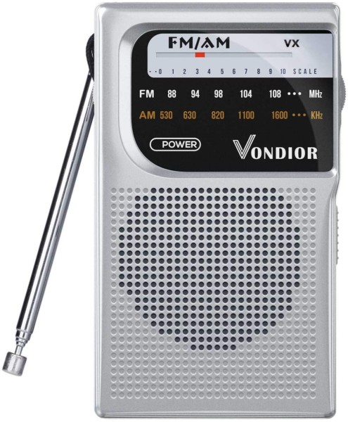 #2. Vondior Battery-operated Pocket Radio
