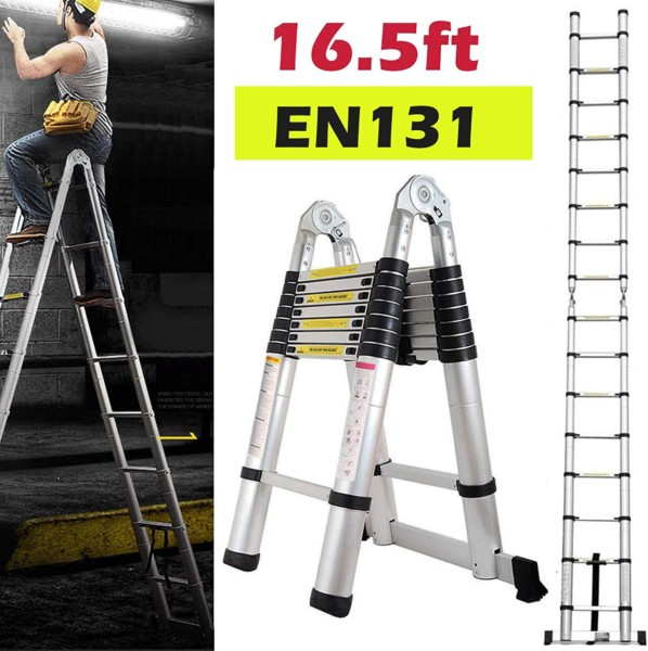 #3. Bowoshen Adjustable Ladder