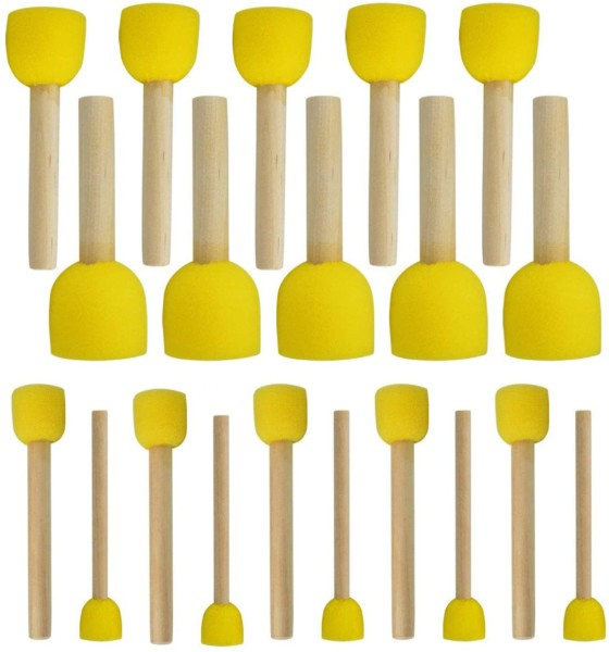 #3. WAF Reusable Round Brush - 20 Pieces