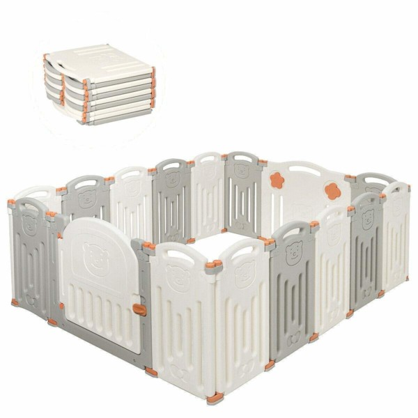 #6. Costzon 16-Panel Kids Baby Fences & Gates